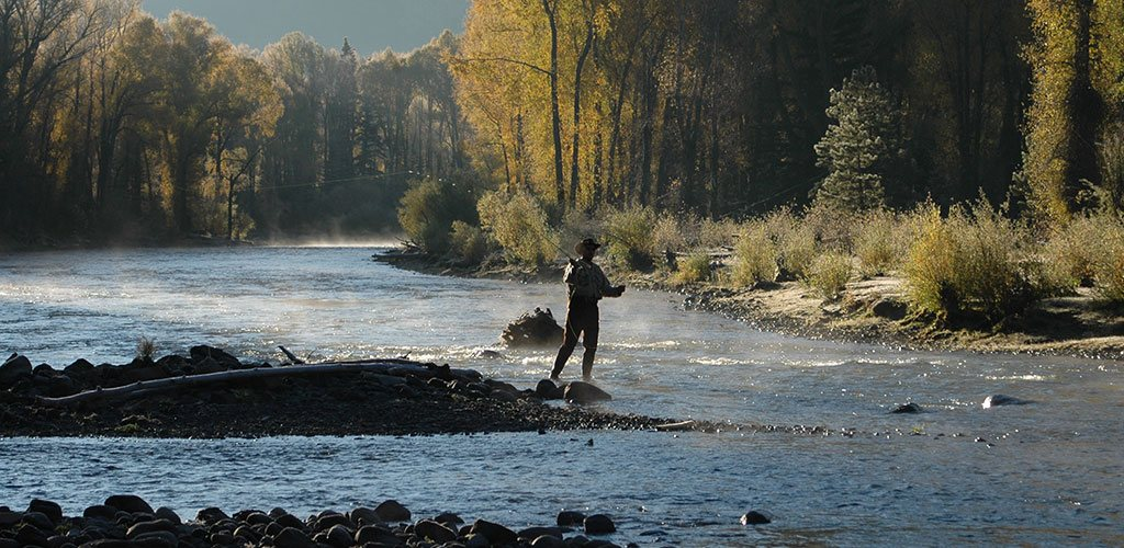 Fly-fishing in the Conejos River