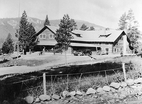 Old photo of the main lodge