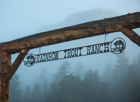 The Rainbow Trout Ranch Gate