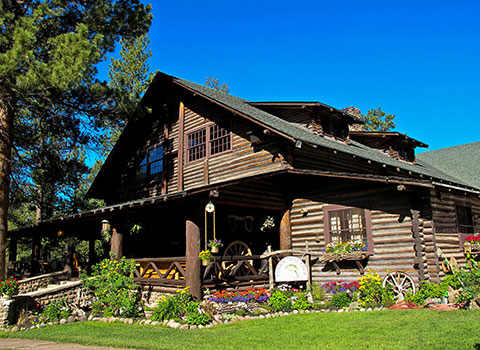 The Main Lodge at Rainbow Trout Ranch